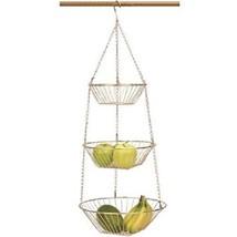 RSVP Copper 3 Tier Hanging Wire Metal Basket Fr... - $19.40