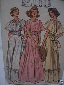 Lawn/Garden Wedding/Prom Dress Pattern- 1970's Bust 36 Bonanza