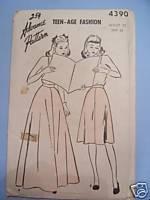 Crinoline Petticoat -2 Lengths Waist 25 - 1940's Vtg Pattern Advance