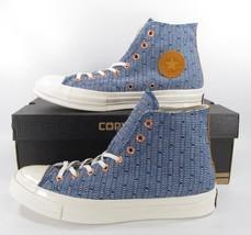 Converse Chuck Taylor All Star 70's Hi Top Sneaker MIDNIGHT/EGRET Blue 147116C - $41.97