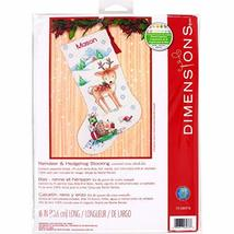Dimensions Cross Stitch 'Reindeer and Hedgehog' Personalized Christmas S... - $21.25