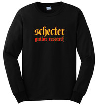 Schecter Guitar Research Logo Long Sleeve T Shirt S M L XL 2XL 3XL - $16.83+
