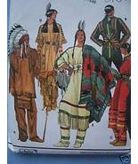 Native American Mardi Gras Costume XS, S, M, L, XL - $5.99