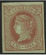 Spain 1864 Scott# 65 MH - $98.00