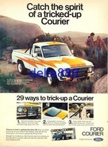 1977 8 x 11 Original Color Print Ad Ford Tricked-Up Courier FREE SHIPPING - $8.95