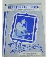 ELVIS PRESLEY HEARTBREAK HOTEL SHEET MUSIC 1956 Vintage Rock N Roll Music - $11.87