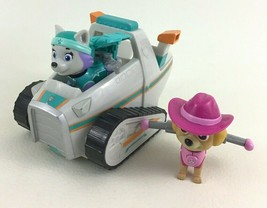 Paw Patrol Everest's Rescue Snowmobile Vehicle 2 Figures Spin Master 2015 Skye - $39.55