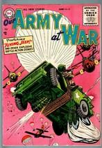 OUR ARMY AT WAR #47 1956-DC WAR COMIC-PARACHUTE COVER-VF- VF- - $181.88