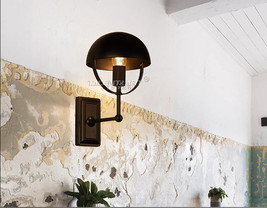 Restoration Hemisphere Sconce E27 Light Wall Lamp Home Cafe Lighting Fix... - $54.01
