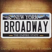 Broadway New York City/College State Street Aluminum Vanity License Plat... - $12.82