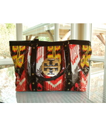 GENUINE TORY BURCH COLORFUL COATED CANVAS TOTE WITH MAGNETIC CLOSURE - $90.00