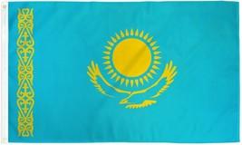"KAZAKHSTAN 3X5' FLAG NEW 3 X 5 FEET 36X60"" BIG - $9.85"