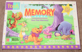 Memory Game Pooh Your First Memory Matching Picture Cards 1996 Milton Bradley Ex - $10.00