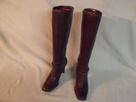 Anne Klein Mead Knee High Brown Leather Boots 7 1/2 M - $24.75