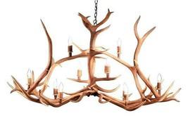 Huge Authentic Elk Crossbar Antler Chandelier - 10 Lights - Handcrafted USA - $5,824.16+