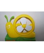 Mini Portable Cooling Fan Yellow Snail Shape USB or Battery  - $5.99