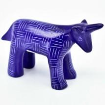 Vaneal Group Hand Carved Kisii Soapstone Dark Blue Unicorn Figurine Made Kenya