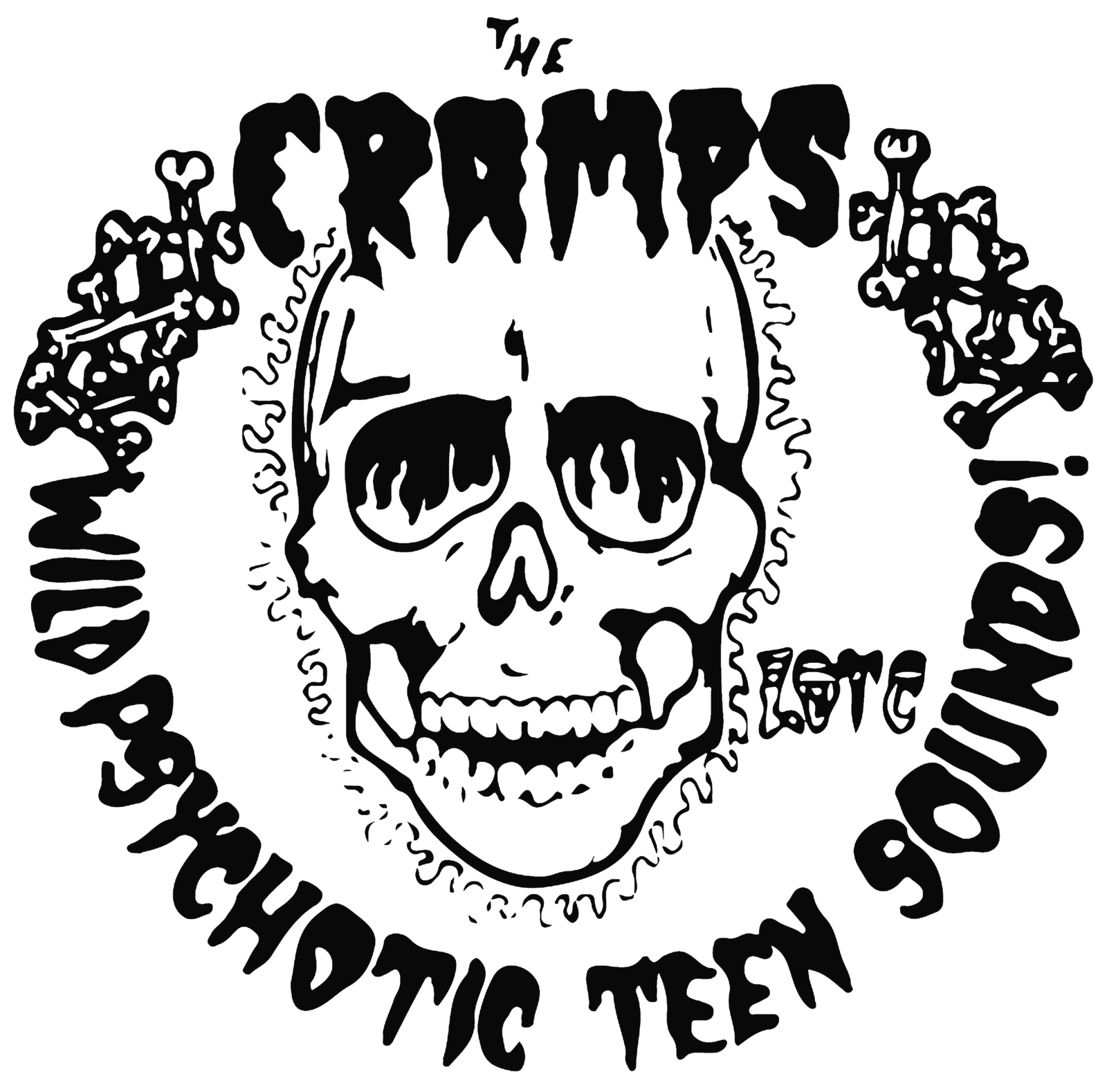 Psychotic Teen Sounds t shirt 100% cotton rockabilly cramps psychobilly punk