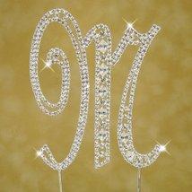 Swarovski Crystal Monogram Cake Topper Vintage Style  Letter M - $18.38