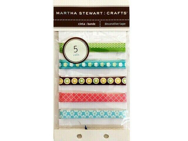 """Martha Stewart Crafts Decorative Tape """"Nature"""", 5 Rolls"""