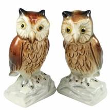 Goebel Owls Figurines Hand Painted Porcelain Pair W Germany Vtg 3830308 ... - $29.95
