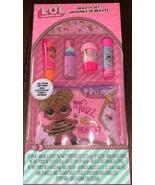 NIP New LOL Surprise! Beauty Set Lip Balm Nail Polish Nail Sticker Sheet... - $14.84