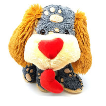 "Spotted Puppy Dog Plush Heart Nose Dan Dee Collectors Choice 13"" Sitting - $22.72"