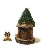 Alpine Cuddle Nest Fairy House with Lara and Lanette Fairy Figurines 8 I... - $34.28