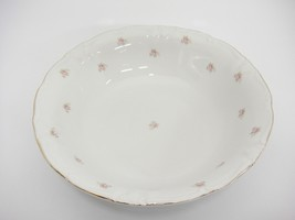 "Vintage Winterling Rosedot 9"" Round Vegetable Serving Bowl Pink Roses Bavaria image 1"
