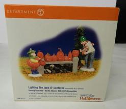Department 56 Lighting The Jack-O'-Lanterns 56.55117 & Original Box - ₨1,575.98 INR