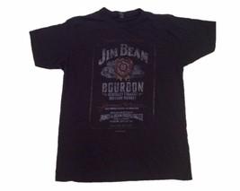 "Retro Distressed Men's T-Shirt, ""Jim Beam""  Bourbon Logo, Black - $17.75"