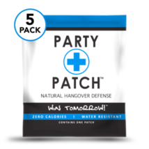 Party Patch 5 pack - All Natural Hangover Defense  - $19.79