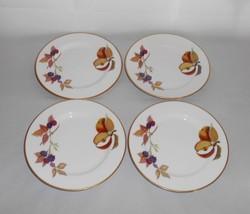 Royal Worcester Evesham Gold Bread Plates ~ Set of 4 ~ Fine English Porcelain - $22.00