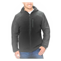 Reebok Men's Hybrid Softshell Jacket, Charcoal, L - $24.74