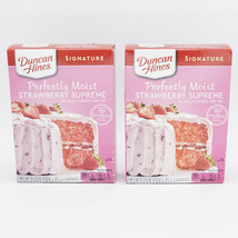 2 Duncan Hines Signature Strawberry Perfectly Moist Supreme Cake Mix 15.... - $13.95