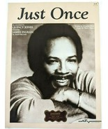 JUST ONCE by Quincy Jones Sung by James Ingram VTG 1981 Sheet Music A&M ... - $22.20