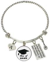 Custom Class 2020 Graduation Tennis Racket Silver Bracelet Gift Choose I... - $17.09