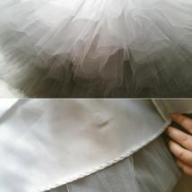 LIGHT GRAY Full Tulle Skirt Knee Length Ballerina Skirt Gray Skirt Plus Size NWT image 8