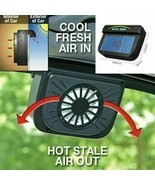 Mini Solar Powered Car Air Vent Cool Exhaust Fan Auto Cooler Ventilation... - $18.99
