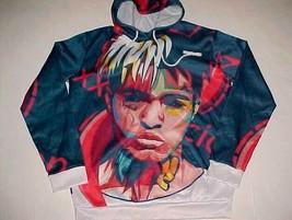 XXXTENTACION Jahseh Dwayne Onfroy Rapper Hip Hop Rap Blue Red Pullover H... - $49.49