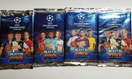 Topps Match Attax 4 Factory Sealed Foil Packs 20 Cards Total 2019/2020 S... - $13.85