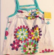Carters Girls 24 Mo 24mo Flower Ruffle Ruffled Tiered Top 100% Cotton - $9.89