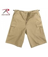 Extra Long Khaki BDU Shorts (Large) - $27.99