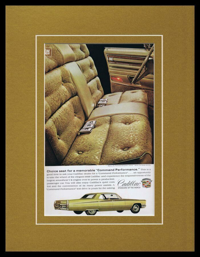 Primary image for 1968 Cadillac Fleetwood Brougham Framed 11x14 ORIGINAL Vintage Advertisement