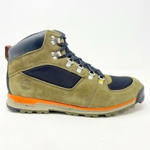 Timberland Scramble Mid GT Leather Dark Olive Black Mens Hiking Boots 2217R - $109.95