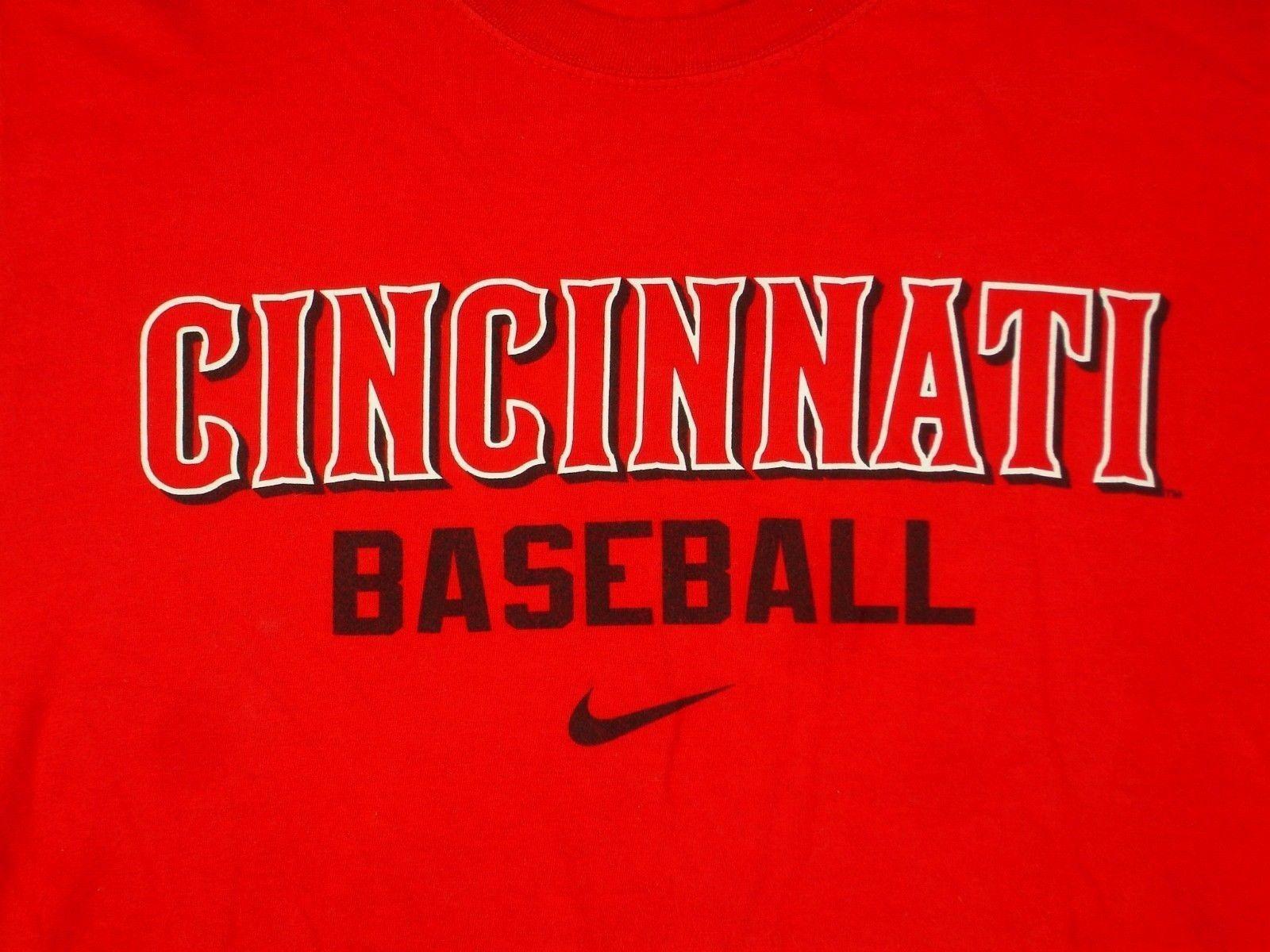 Nike Cincinnati Reds Baseball MLB Sz M Regular Fit Red T Shirt - $16.99