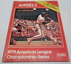 1979 American League Championship Series Angels vs. Orioles Magazine - $8.68
