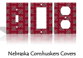 Nebraska Cornhuskers Light Switch Covers Football NCAA Home Decor Outlet - $6.89+
