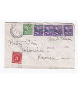 BOSTON MASS SPECIAL DELIVERY POSTAGE DUE TO MILWAUKEE WIS DEC 17 1946 - £3.07 GBP