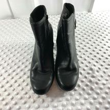 Clarks Sz 8 M Womens Black Side Zip Ankle Booties Shoes image 3